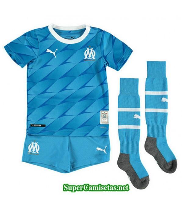 Segunda Equipacion Camiseta Marsella Ninos Azul 2019/20