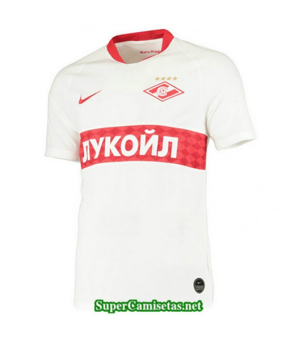 Segunda Equipacion Camiseta Spartak Moscú Blanco 2019/20