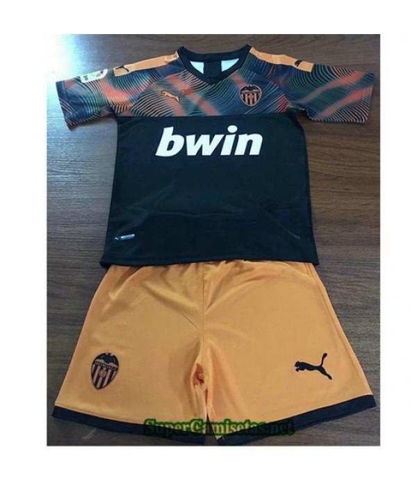 Segunda Equipacion Camiseta Valencia Ninos 2019/20