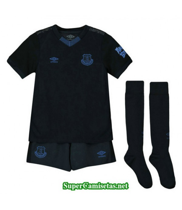 Tercera Equipacion Camiseta Everton Ninos Negro 2019/20