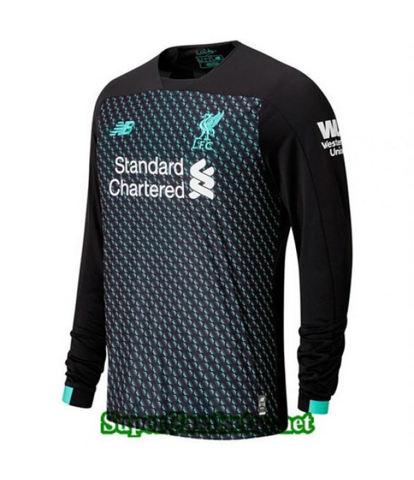 Tercera Equipacion Camiseta Liverpool Manga Larga 2019/20