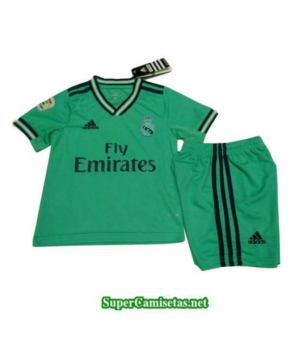 Tercera Equipacion Camiseta Real Madrid Ninos Verd...