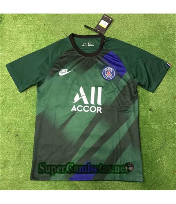 Entrenamiento Equipacion Camiseta PSG Verde 2019/2...