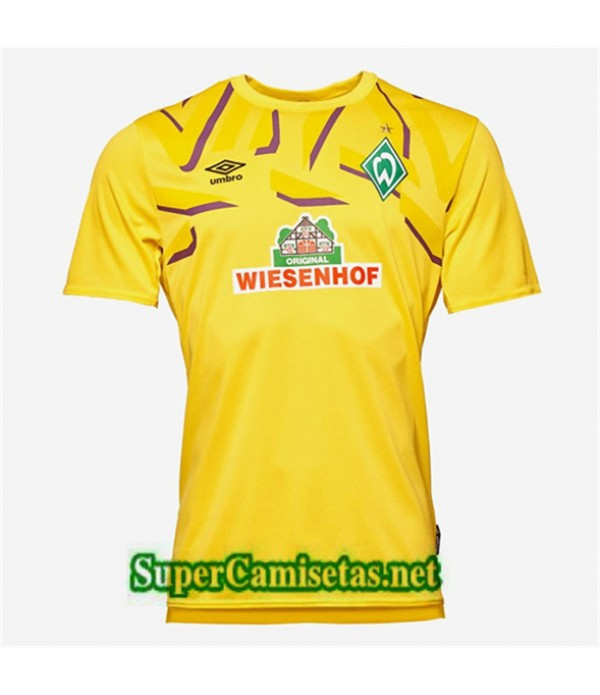 Portero Equipacion Camiseta Werder Bremen Amarillo 2019/20
