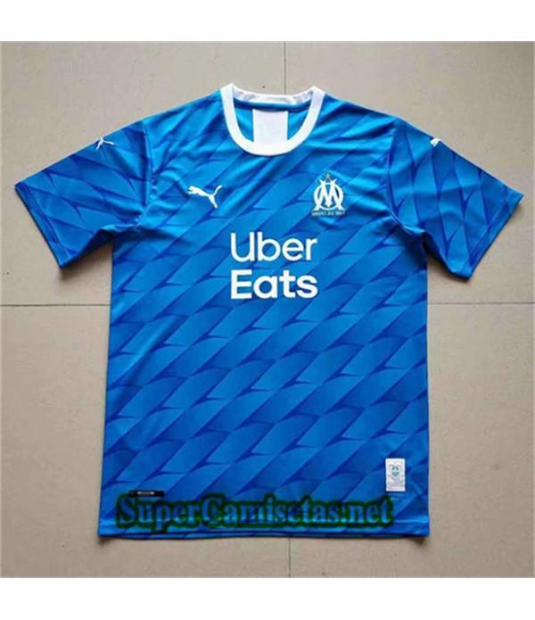 Segunda Equipacion Camiseta Marsella Uber Eats Azul 2019/20