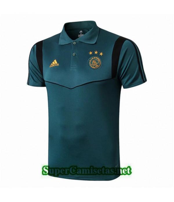 Tailandia Camiseta Ajax Polo Equipacion Azul 2019/20