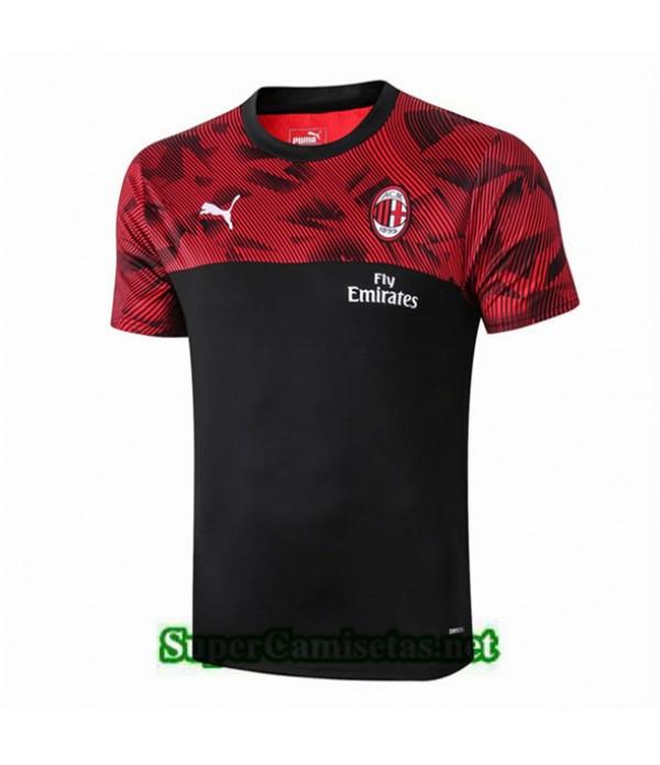 Tailandia Camiseta Pre Match Ac Milan Equipacion Negro/rojo 2019/20
