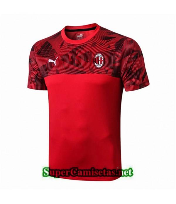Tailandia Camiseta Pre Match Ac Milan Equipacion Rojo 2019/20