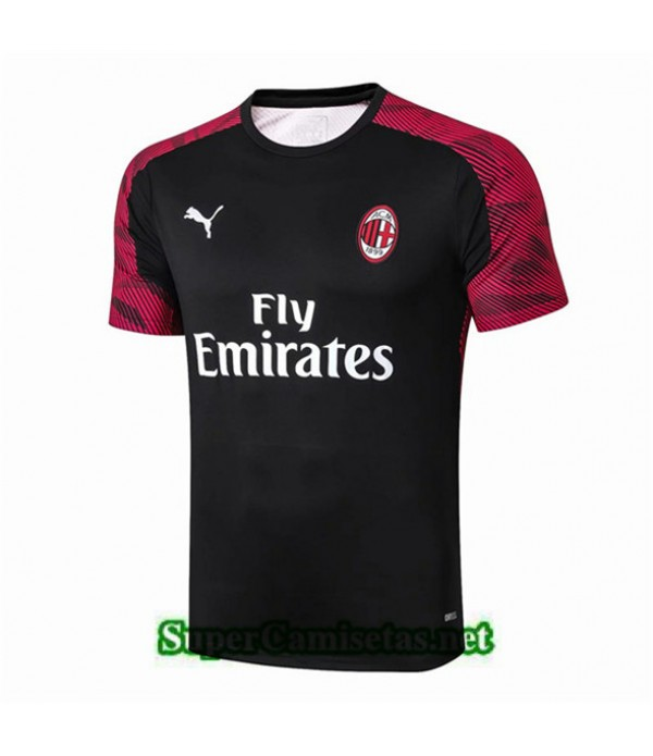 Tailandia Camiseta Pre Match Ac Milan Equipacion Rojo Foncé/negro 2019/20