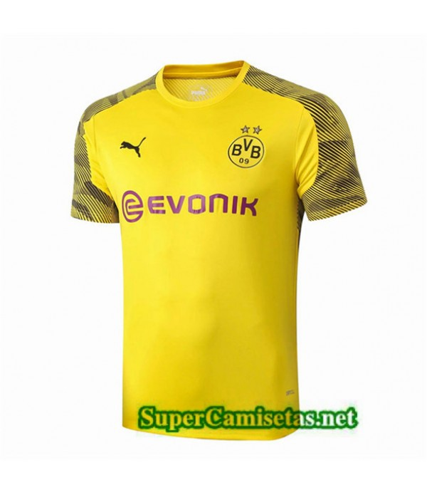 Tailandia Camiseta Pre Match Borussia Dortmund Equipacion Amarillo 2019/20