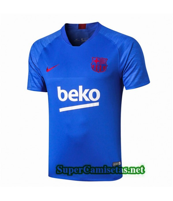 Tailandia Camiseta Pre Match Fc Barcelona Equipacion Azul 2019/20