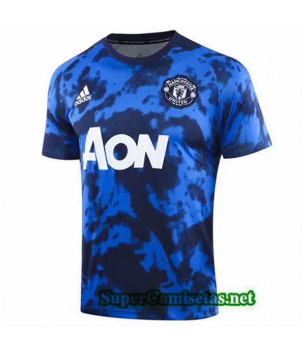 Tailandia Camiseta Pre Match Manchester United Equipacion Azul 2019/20