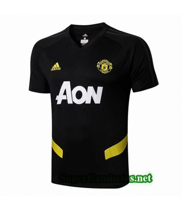 Tailandia Camiseta Pre Match Manchester United Equipacion Negro 2019/20