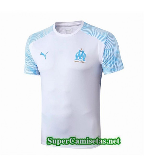 Tailandia Camiseta Pre Match Marsella Equipacion Blanco/azul 2019/20