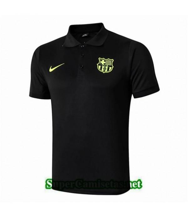 Tailandia Camiseta Pre Match Polo Fc Barcelona Equipacion Negro 2019/20