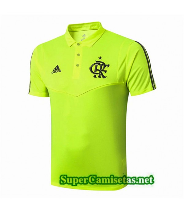 Tailandia Camiseta Pre Match Polo Flamengo Equipacion Verde 2019/20