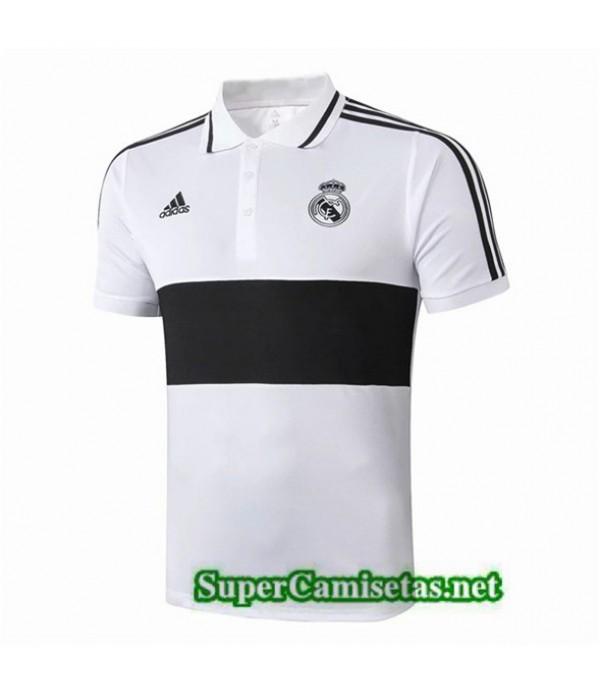 Tailandia Camiseta Real Madrid Polo Equipacion Blanco/negro 2019/20