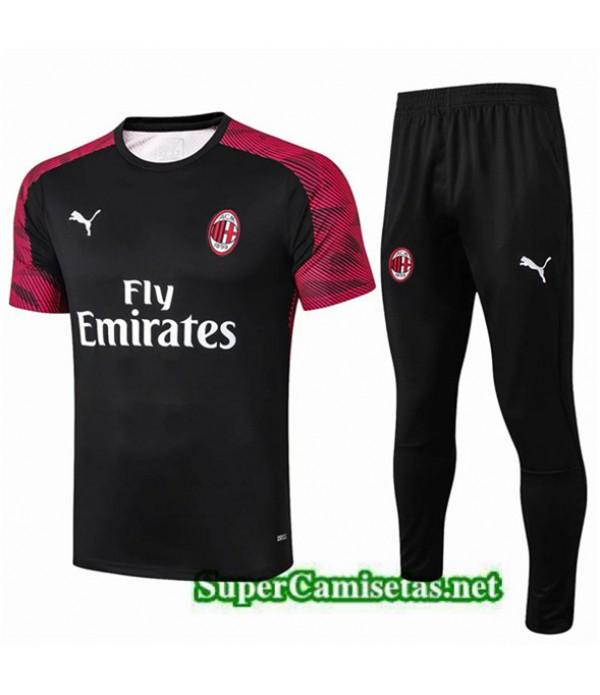 Tailandia Camiseta Kit De Entrenamiento Ac Milan Equipacion Rojo Foncé/negro 2019/20