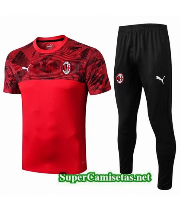 Tailandia Camiseta Kit De Entrenamiento Ac Milan Equipacion Rojo/negro 2019/20