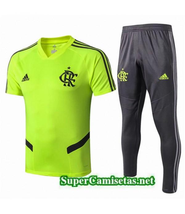 Tailandia Camiseta Kit De Entrenamiento Flamengo Equipacion Verde/negro 2019/20
