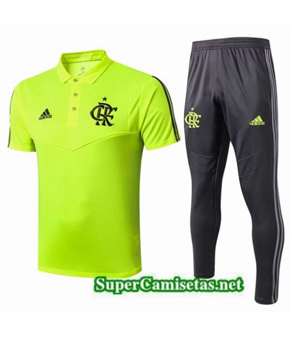 Tailandia Camiseta Kit De Entrenamiento Flamengo Polo Equipacion Verde/negro 2019/20