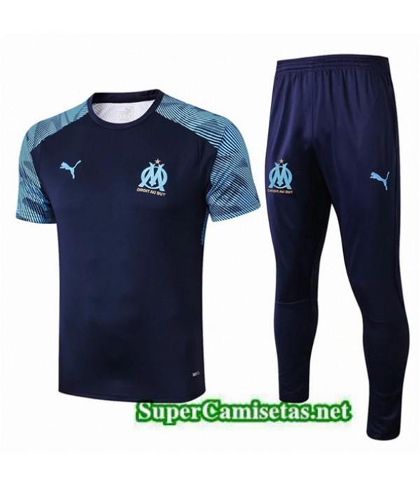 Tailandia Camiseta Kit De Entrenamiento Marsella Equipacion Azul 2019/20