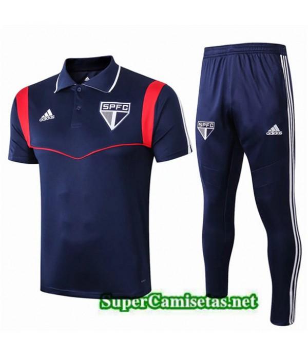 Tailandia Camiseta Kit De Entrenamiento Sao Paulo Equipacion Azul 2019/20