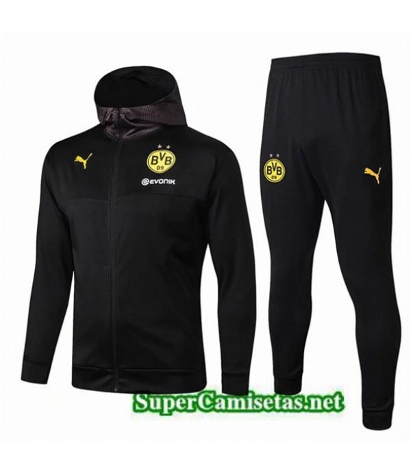 Tailandia Chaqueta De Chandal Borussia Dortmund Equipacion Negro 2019/20 Sombrero