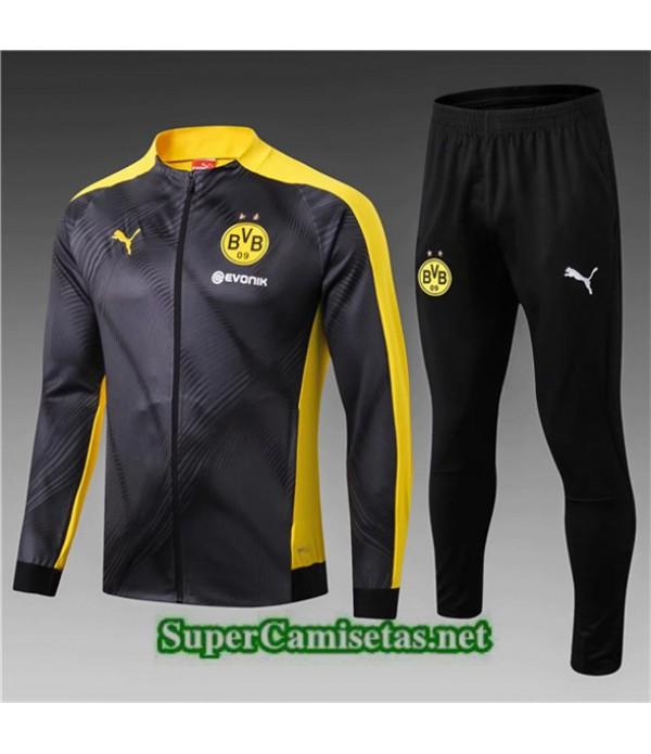 Tailandia Chaqueta De Chandal Borussia Dortmund Niño Equipacion Negro/amarillo 2019/20