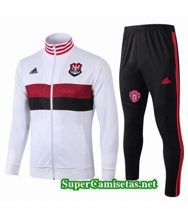 Tailandia Chaqueta De Chandal Flamengo Equipacion Blanco/negro 2019/20