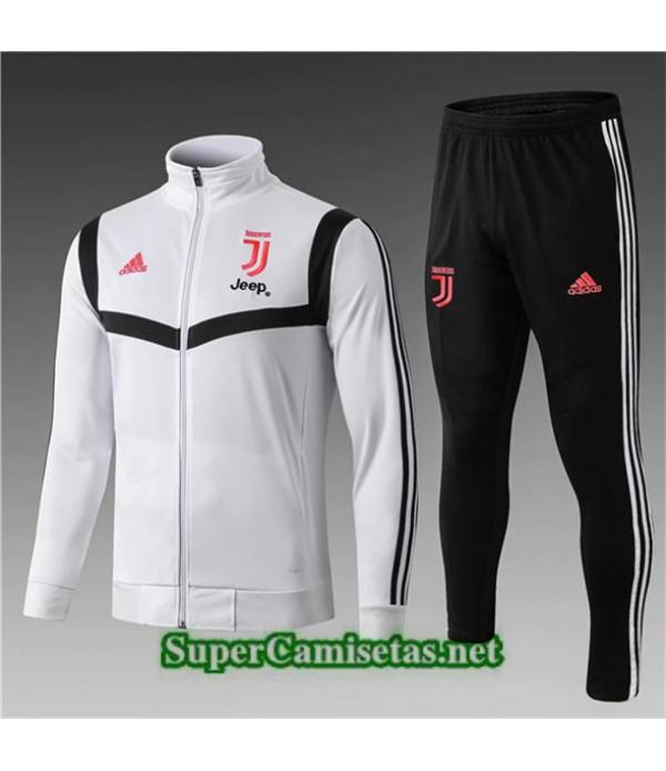 Tailandia Chaqueta De Chandal Juventus Equipacion Niño Blanco/negro 2019/20 Cuello Alto