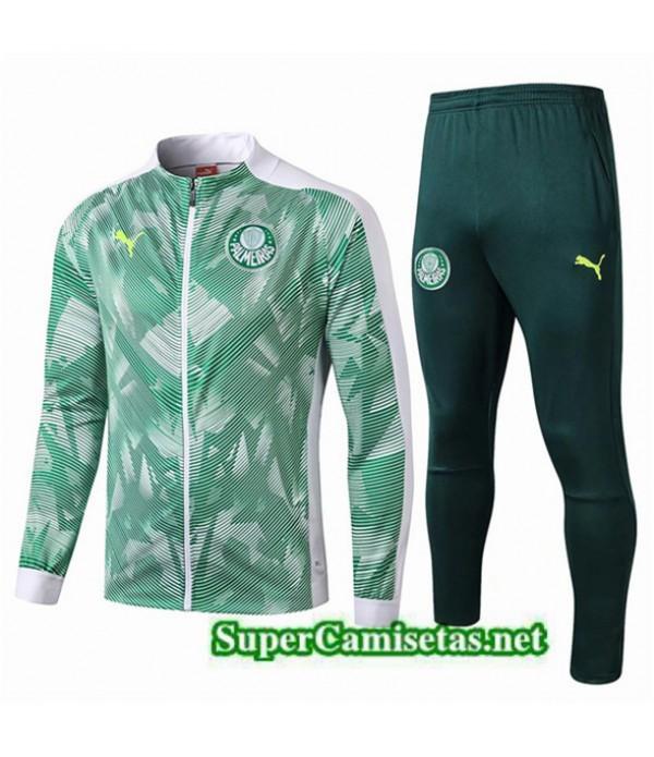 Tailandia Chaqueta De Chandal Palmeiras Equipacion Verde/blanco 2019/20