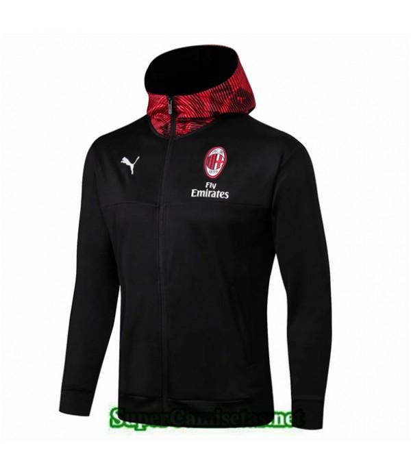 Tailandia Camiseta Ac Milan Chaqueta Negro 2019/20 Rojo Sombrero
