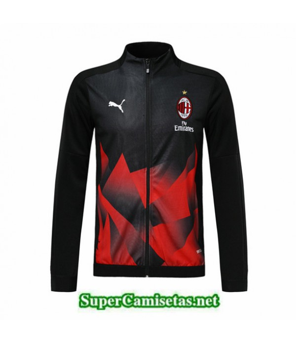 Tailandia Camiseta Ac Milan Chaqueta Negro/rojo 2019/20