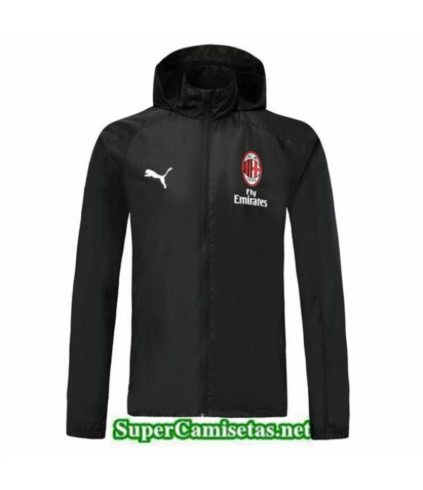 Tailandia Camiseta Ac Milan Rompevientos Negro 2019/20 Sombrero