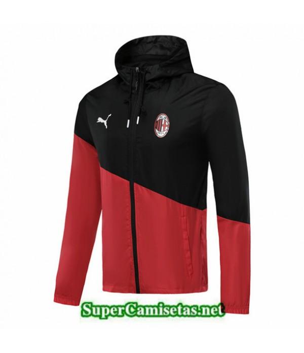 Tailandia Camiseta Ac Milan Rompevientos Negro/rojo 2019/20 Sombrero