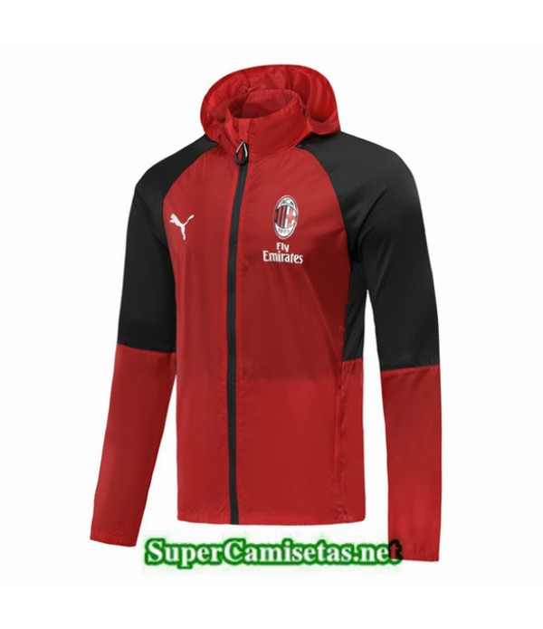 Tailandia Camiseta Ac Milan Rompevientos Rojo 2019/20 Sombrero