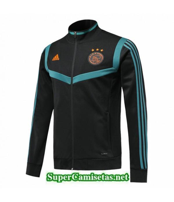 Tailandia Camiseta Ajax Chaqueta Negro/azul 2019/20