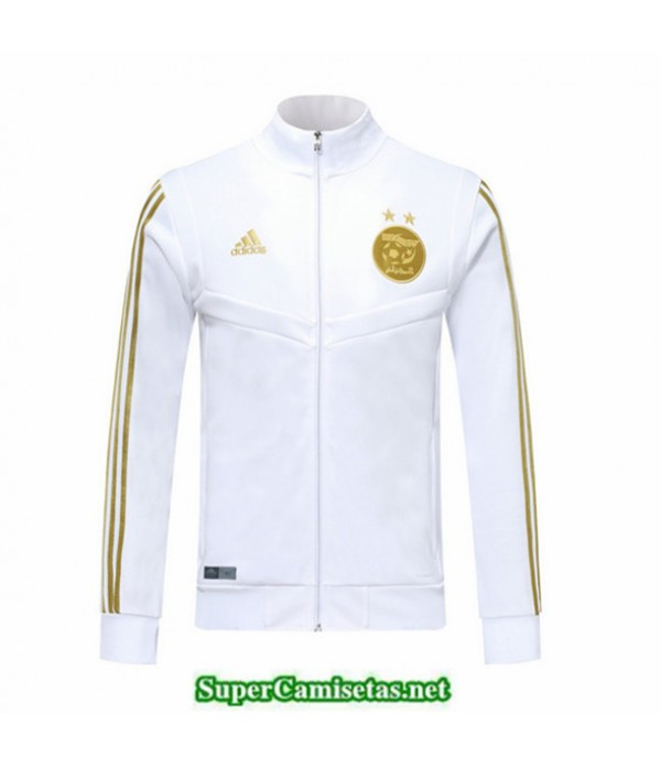 Tailandia Camiseta Argelia Chaqueta Blanco/negro 2019/20 Cuello Alto