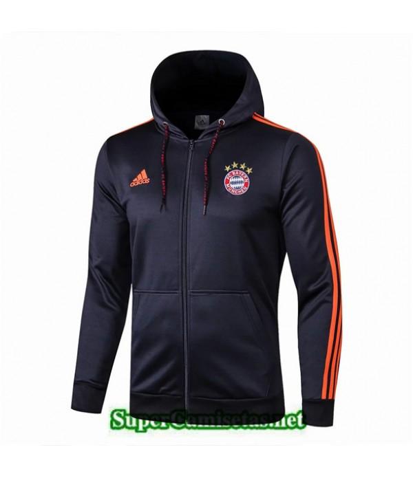 Tailandia Camiseta Bayern Chaqueta Azul Oscuro 2019/20 Sombrero