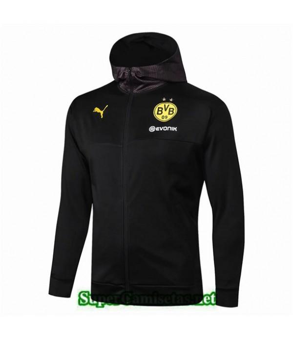 Tailandia Camiseta Borussia Dortmund Chaqueta Negro 2019/20 Sombrero