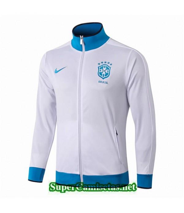 Tailandia Camiseta Brasil Chaqueta Blanco/azul 2019/20