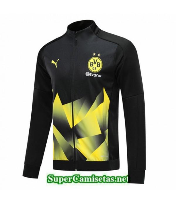 Tailandia Camiseta Chandal Borussia Dortmund Chaqueta Negroamarillo 2019/20