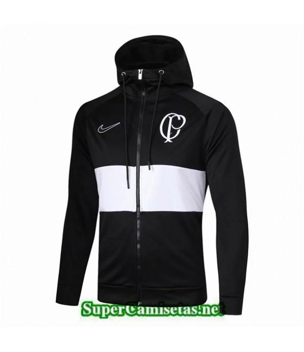 Tailandia Camiseta Corinthians Chaqueta Negro 2019/20 Sombrero