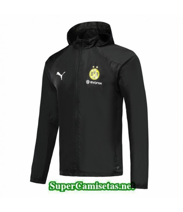 Tailandia Camiseta Dortmund Rompevientos Negro 2019/20 Sombrero