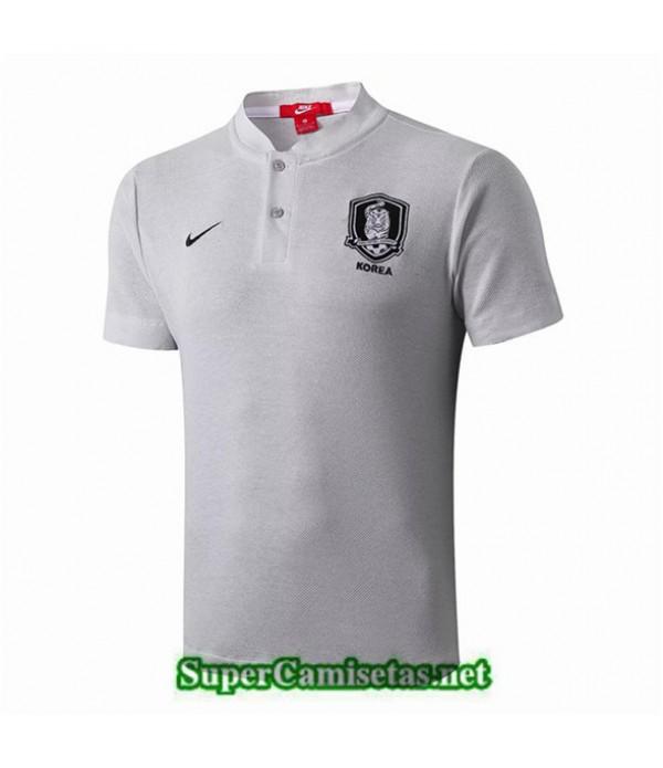 Tailandia Camiseta Entrenamiento Corea Gris 2019/20 Cuello V 02