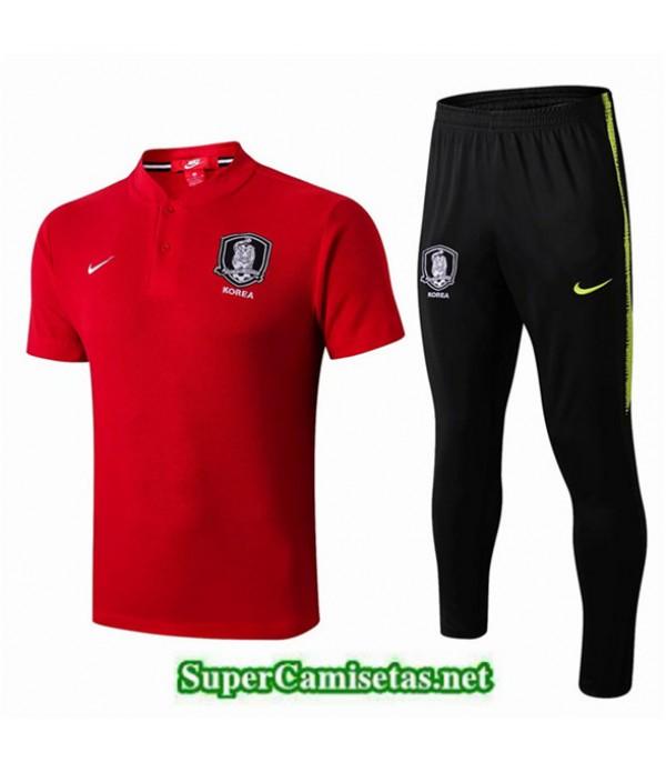 Tailandia Camiseta Entrenamiento Corea Rojo/negro 2019/20 Cuello V