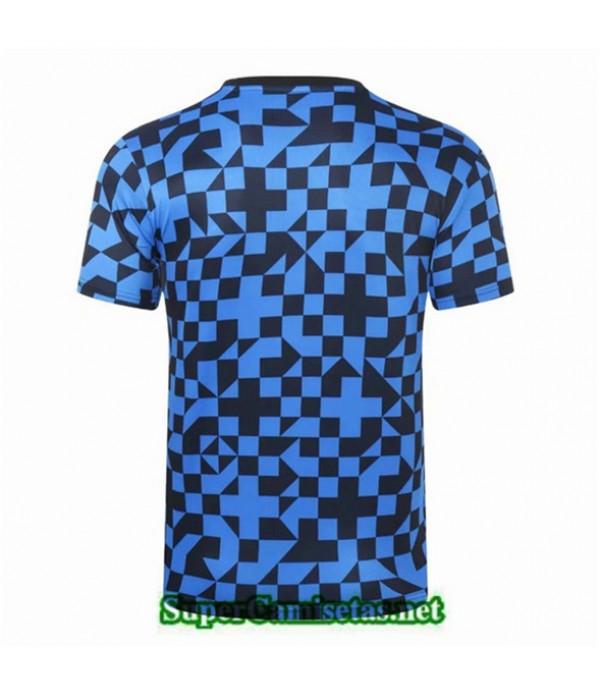Tailandia Camiseta Entrenamiento Inter Milan Azul/negro Cuello Redondo 2019/20