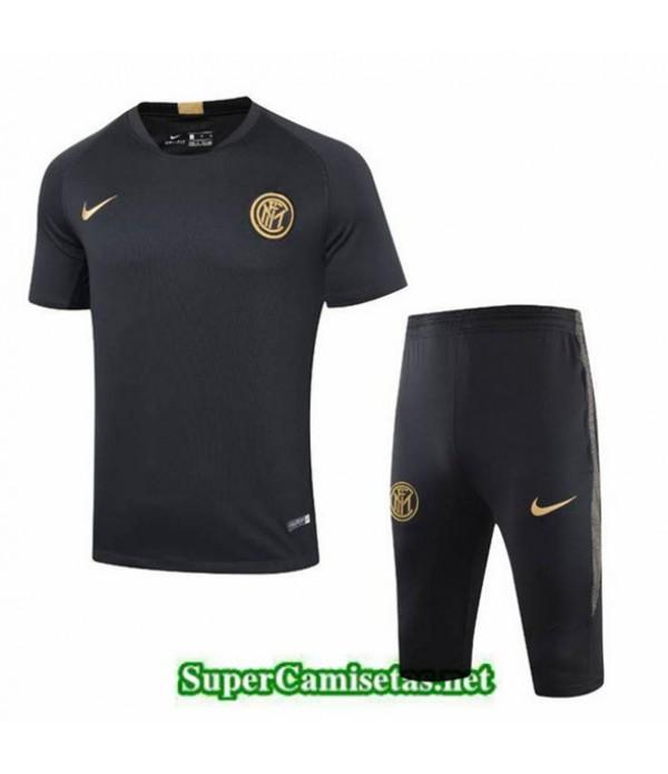 Tailandia Camiseta Entrenamiento Inter Milan Negro 2019/20 Cuello V