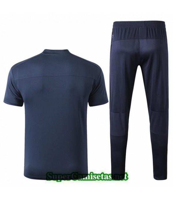 Tailandia Camiseta Entrenamiento Marsella Azul Oscuro 2019/20 Cuello V